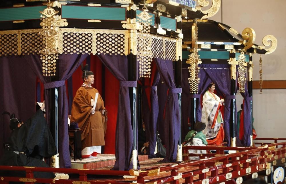იაპონიის იმპერატორი ნარუჰიტო ტახტზე ოფიციალურად ავიდა (ფოტოები)
