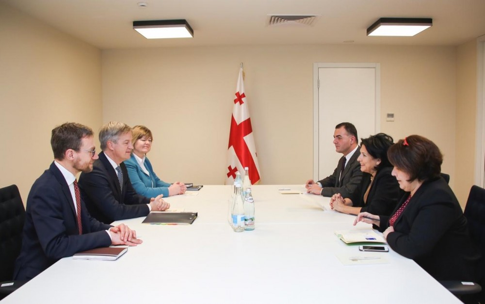 საქართველოს პრეზიდენტი ევროკავშირის სადამკვირვებლო მისიის ხელმძღვანელს ერიკ ჰოეგს შეხვდა