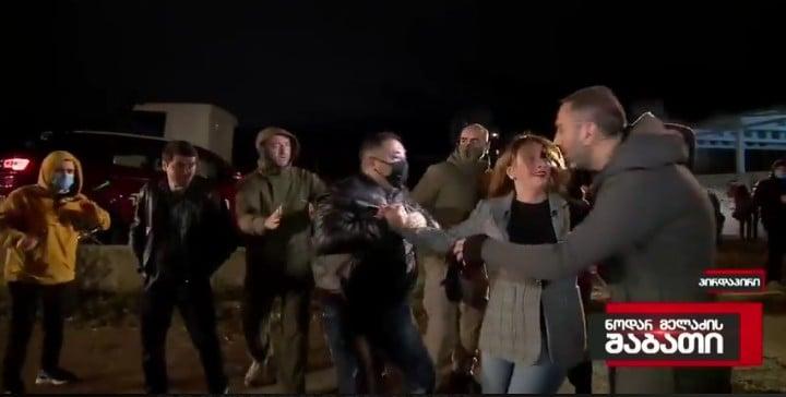ჟურნალისტ მარიამ გაფრინდაშვილს თავს პირდაპირ ეთერში დაესხნენ (ვიდეო)