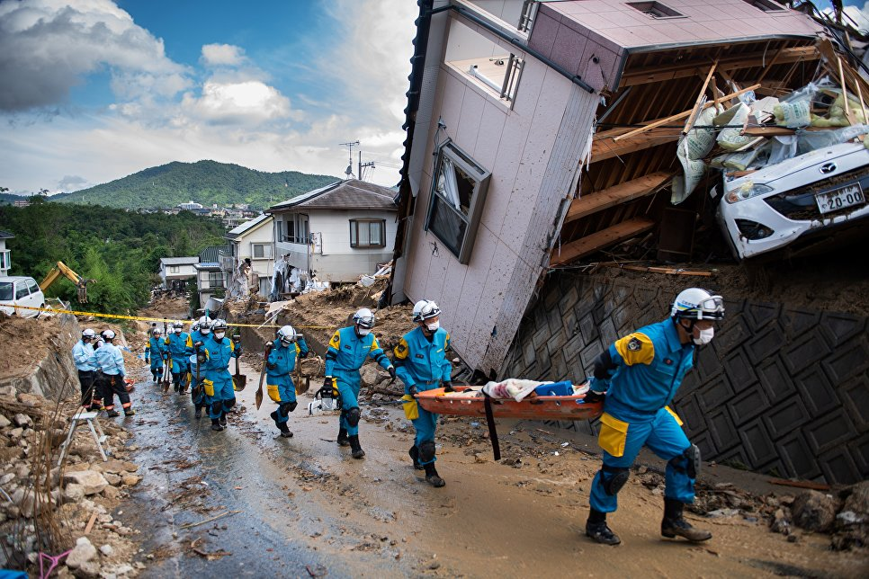 წყალდიდობის შედეგად იაპონიაში დაღუპულთა რიცხვი 195-მდე გაიზარდა