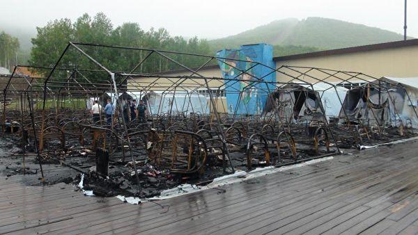 რუსეთში კარვების ბანაკში ხანძრის შედეგად 4 ბავშვი დაიღუპა