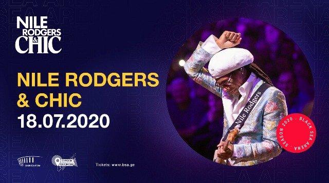 """""""ბლექ სი არენა"""" მუსიკალურ პროექტს Nile Rodgers & CHIC უმასპინძლებს"""