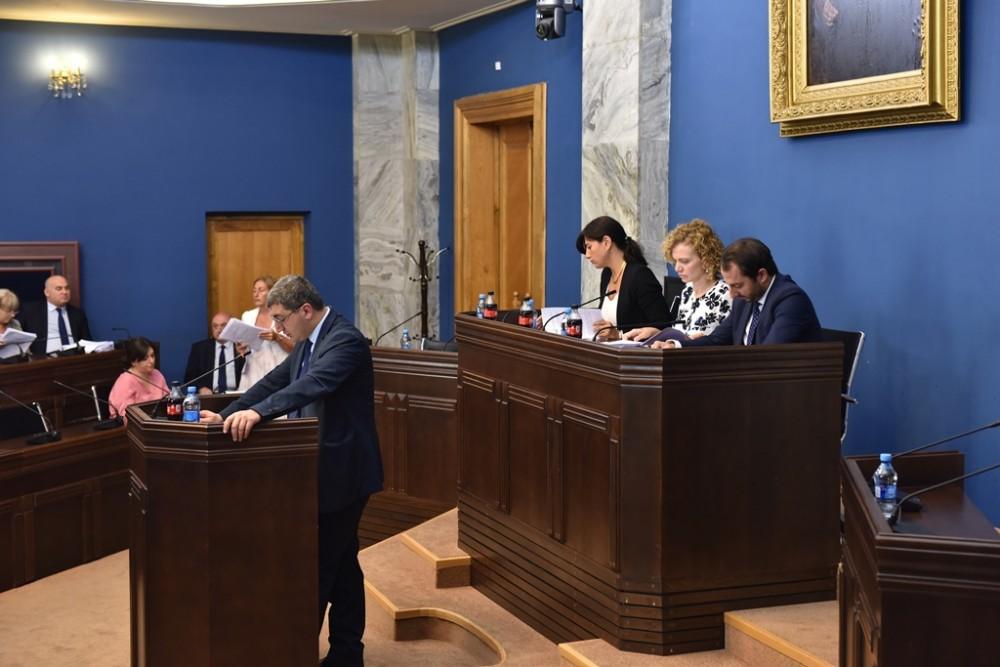 კომიტეტების გაერთიანებულ სხდომაზე საქართველოს 2018 წლის სახელმწიფო ბიუჯეტის 6 თვის შესრულების თაობაზე ინფორმაცია მოისმინეს