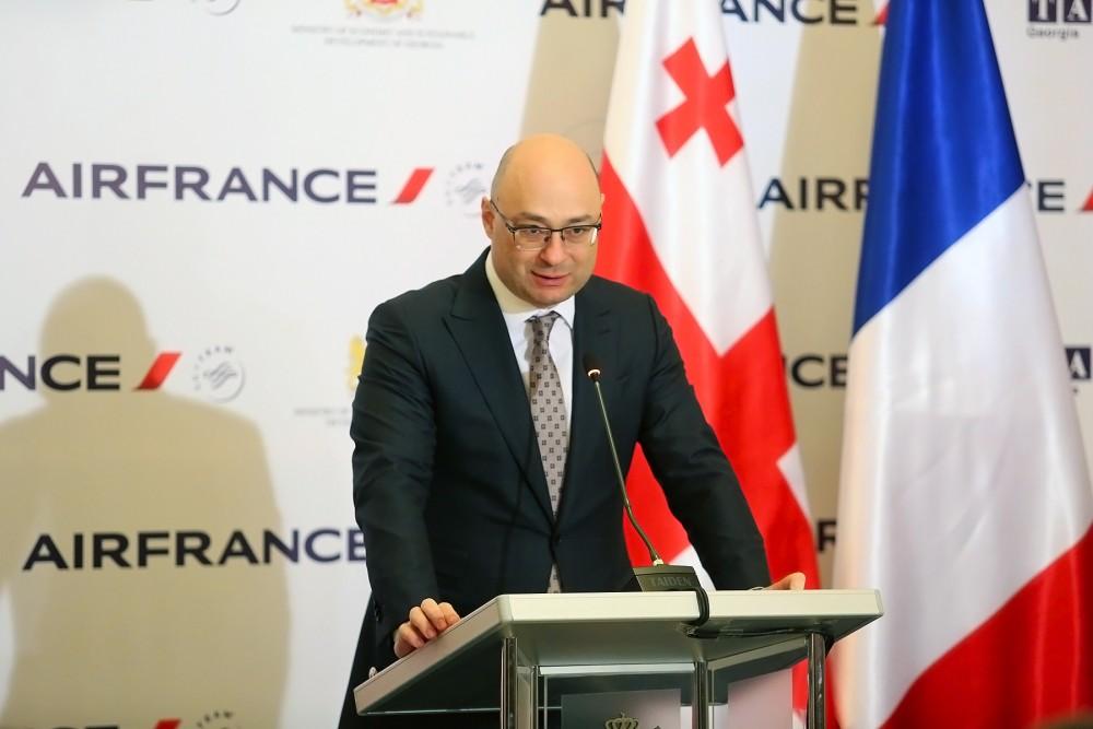 ვიმედოვნებთ, რომ Air France მაგალითს მისცემს სხვა ევროპულ ავიაკომპანიებს და მეტი პირდაპირი რეისი გვექნება ევროპის სხვადასხვა მიმართულებით - გიორგი ქობულია