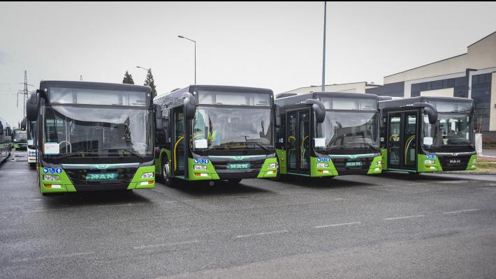 ახალი ავტობუსები დამატებით 8 მარშრუტზე იმოძრავებენ