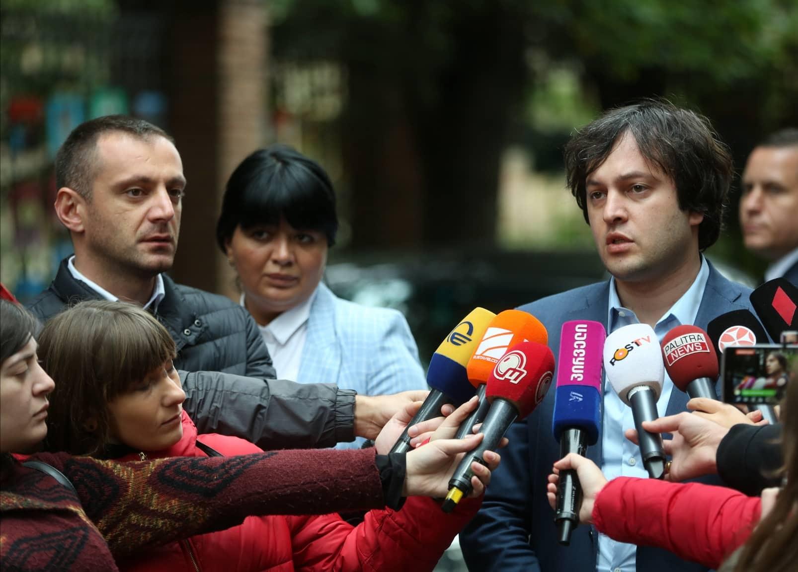 """ირაკლი კობახიძე """"ევროპული საქართველოს"""" მოთხოვნაზე: როდესაც ეს ადამიანები 7 ნოემბერს  გამოდიან ასეთი ულტიმატუმებით, არ არის სწორი საქციელი"""
