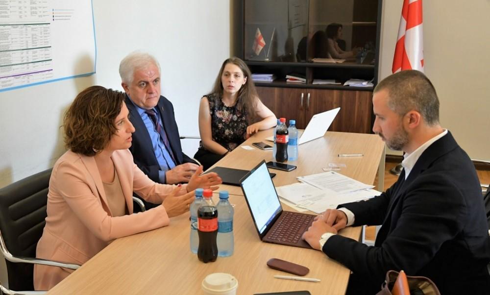 გენადი მარგველაშვილმა და ირინე ფრუიძემ საერთაშორისო ექსპერტ მაქსიმილიან ფრასთან ახალგაზრდული პოლიტიკის დოკუმენტსა და სამოქმედო გეგმაზე ისაუბრეს
