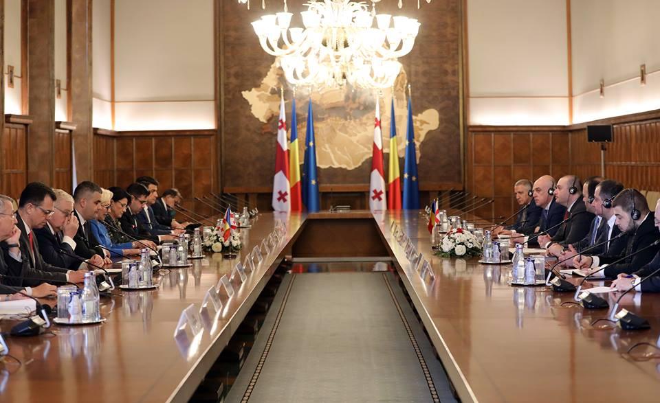 პრემიერ-მინისტრი რუმინეთთან ურთიერთობის სტრატეგიულ დონეზე გადაყვანის ინიციატივით გამოვიდა