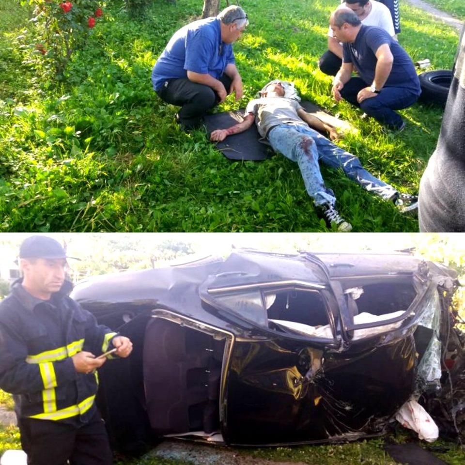 ზუგდიდი-ანაკლიის გზაზე ავტოსაგზაო შემთხვევა მოხდა
