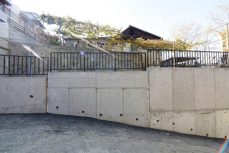 მთაწმინდის რაიონში კიდევ 2 გრუნტის დამჭერი კედლის მშენებლობა დასრულდა