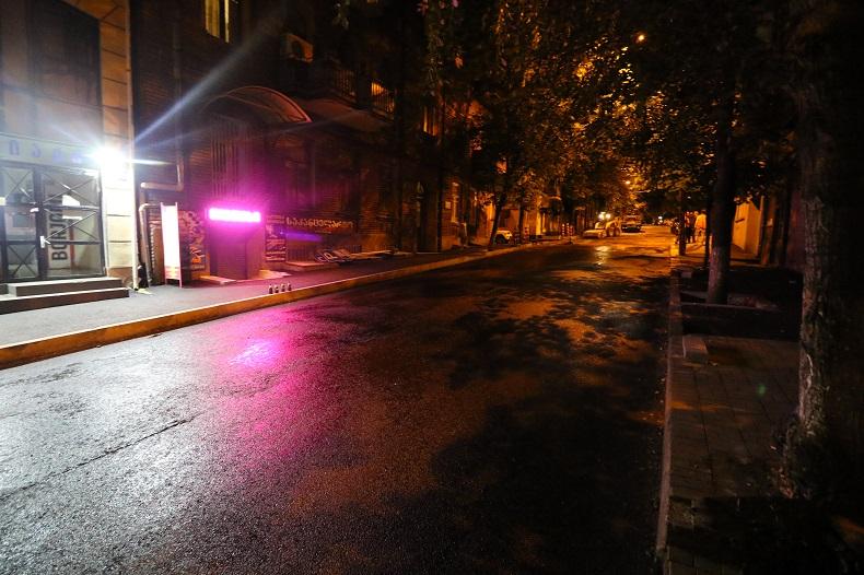 ტატიშვილის ქუჩაზე გზის რეაბილიტაცია დასრულდა