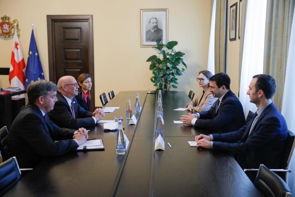 არჩილ თალაკვაძე საქართველოში USAID-ის მისიის ხელმძღვანელს შეხვდა
