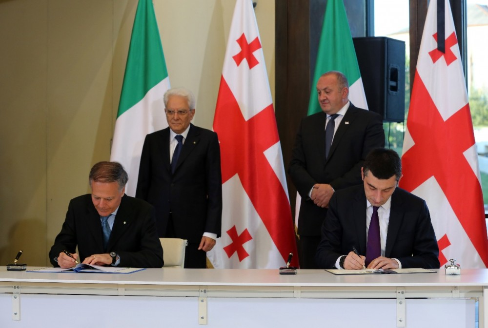 შინაგან საქმეთა მინისტრმა გიორგი გახარიამ იტალიის მხარესთან ურთიერთგაგების მემორანდუმი გააფორმა
