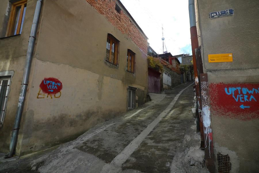 გუნიას ქუჩა I შესახვევში ქვაფენილი მოეწყო