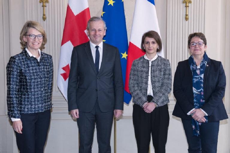 თამარ ჩუგოშვილი საფრანგეთის ეროვნული ასამბლეის ვიცე-პრეზიდენტს შეხვდა