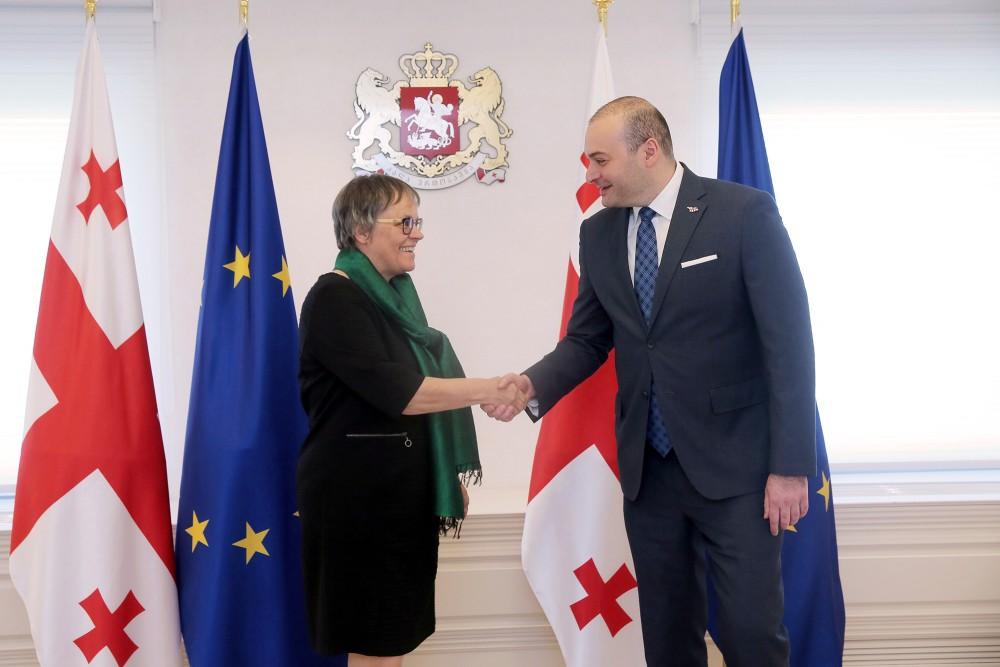 პრემიერმა ევროპის საბჭოს საპარლამენტო ასამბლეის პრეზიდენტს უმასპინძლა