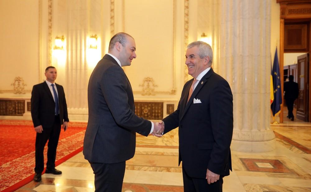 პრემიერი რუმინეთის სენატის პრეზიდენტს შეხვდა