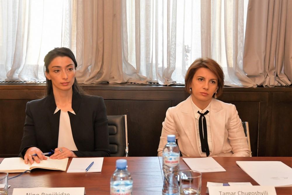 თამარ ჩუგოშვილი საქართველოში ევროკავშირის სადამკვირვებლო მისიის (EUMM) ხელმძღვანელს ერიკ ჰოგს შეხვდა