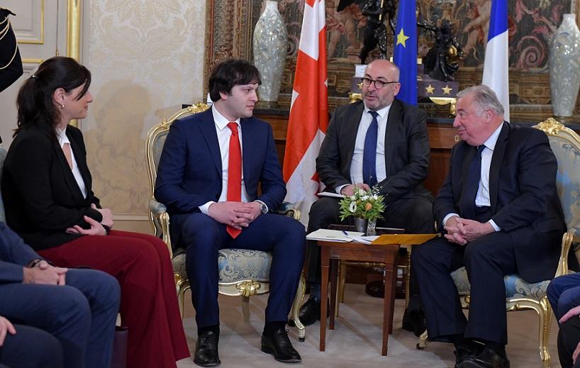 ირაკლი კობახიძე საფრანგეთის რესპუბლიკის სენატის პრეზიდენტს შეხვდა