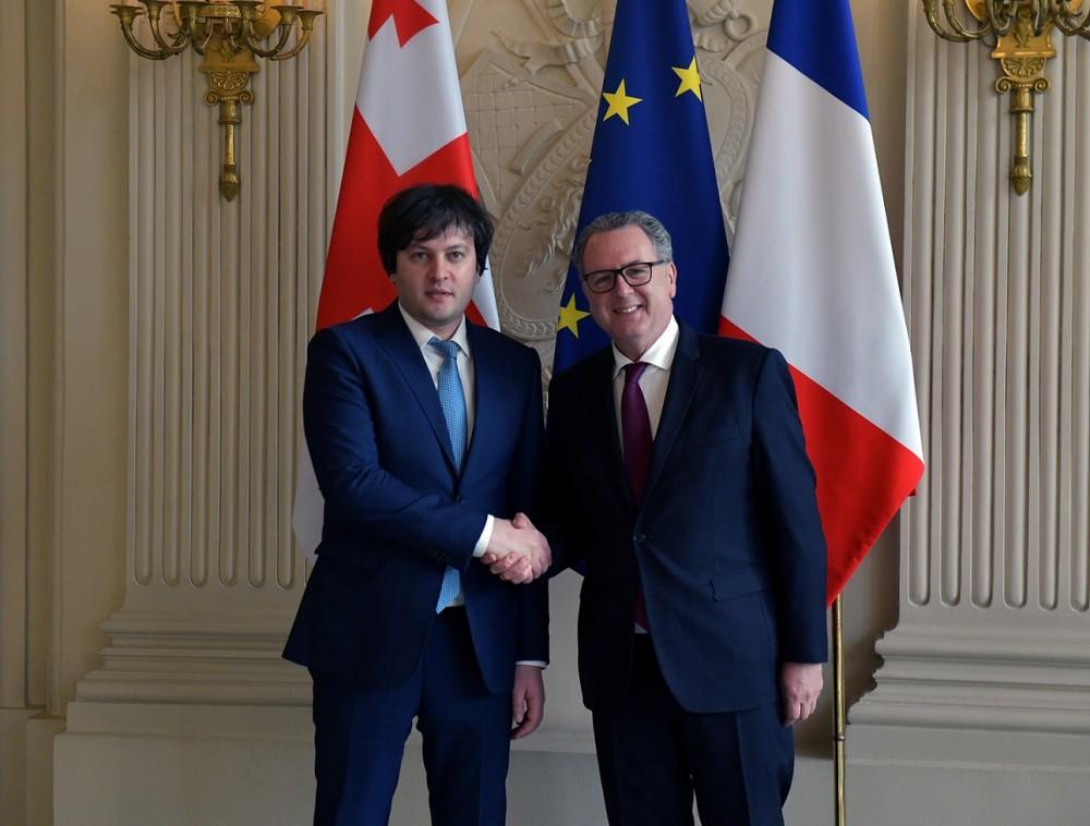 ირაკლი კობახიძე საფრანგეთის ეროვნული ასამბლეის პრეზიდენტს შეხვდა