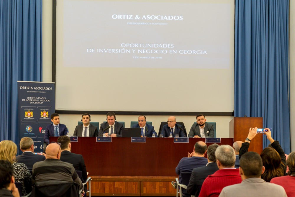 საქართველოს სამთავრობო დელეგაციამ ესპანური ბიზნესის წარმომადგენლებს ქვეყნის საინვესტიციო შესაძლებლობები გააცნო