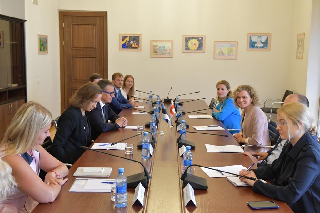 თამარ ხულორდავა ესტონეთის პარლამენტის ევროპულ საქმეთა კომიტეტის წევრებს შეხვდა