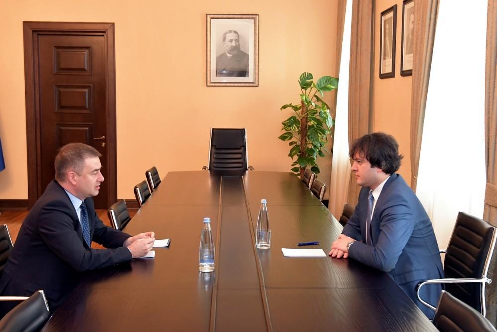 ირაკლი კობახიძე ევროპის საბჭოს ოფისის ხელმძღვანელს შეხვდა