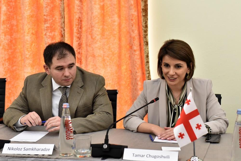 თამარ ჩუგოშვილი ესტონეთის პარლამენტის ევროკავშირის საქმეთა კომიტეტის დელეგაციის წევრებს შეხვდა