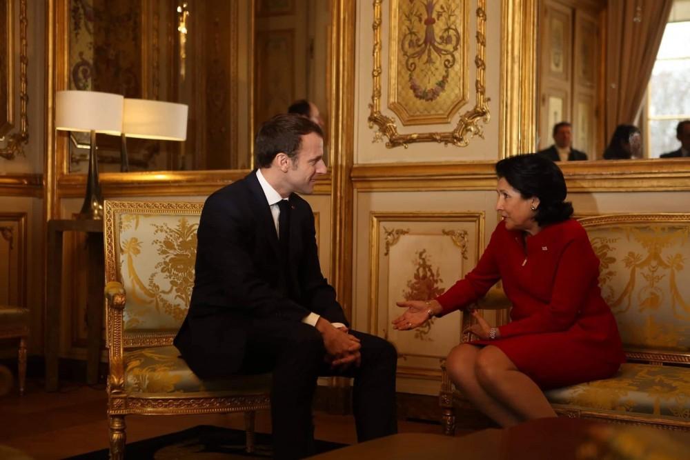 სალომე ზურაბიშვილმა საფრანგეთის პრეზიდენტი საქართველოში მოიწვია