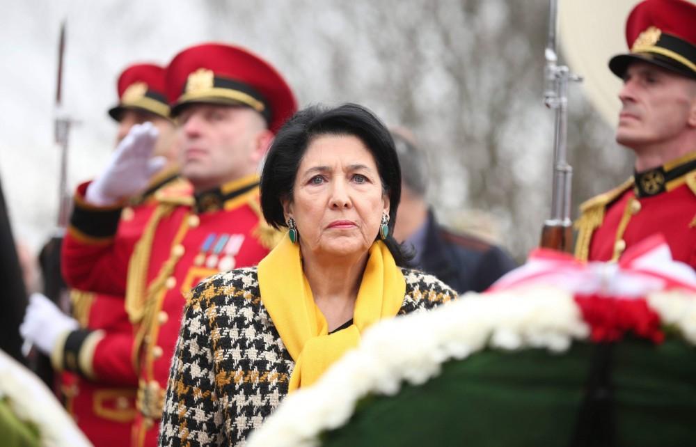 პრეზიდენტი - საქართველოს დამოუკიდებლობისათვის ბრძოლა არ დასრულებულა, ის დღესაც გრძელდება