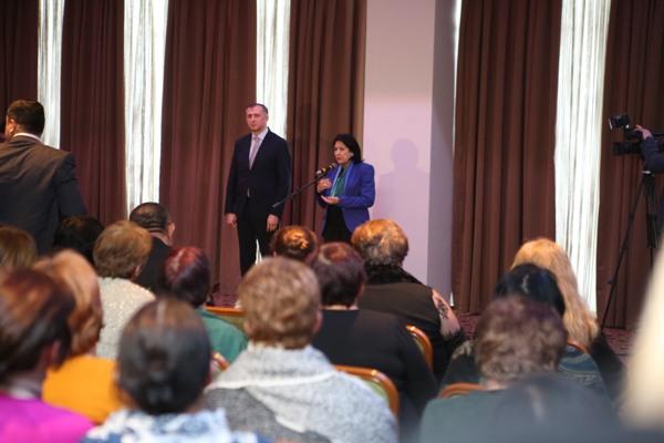საქართველოს პრეზიდენტი სალომე ზურაბიშვილი კახში ქართული წარმოშობის ადგილობრივ მოსახლეობას შეხვდა