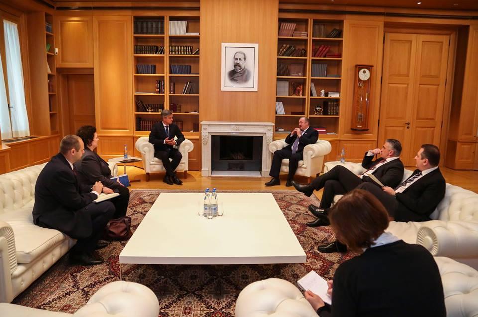 საქართველოს პრეზიდენტი ევროკავშირის სადამკვირვებლო მისიის ახალ ხელმძღვანელს შეხვდა