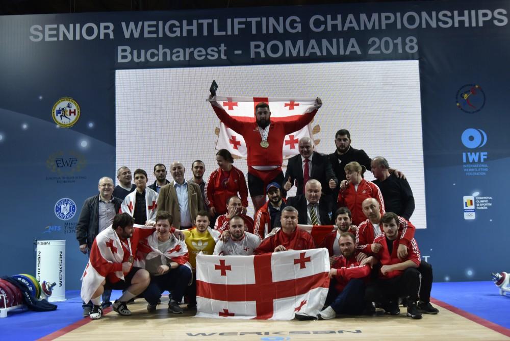ძალოსნობის ეროვნული ნაკრები ევროპის ჩემპიონატიდან 10 ოქროს, სამი ვერცხლისა და ორი ბრინჯაოს მედლით ბრუნდება
