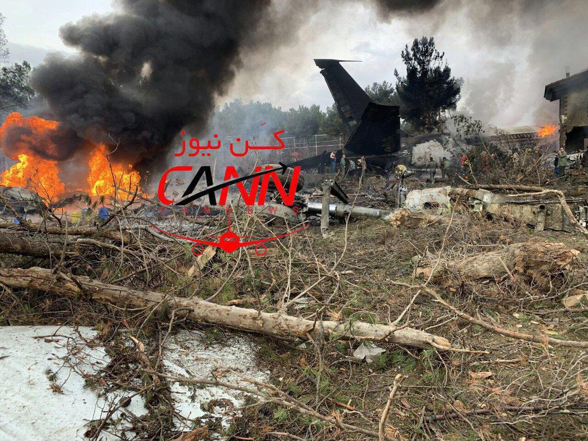 ავიაკატასტროფა -  ირანში სატვირთო თვითმფრინავი ჩამოვარდა