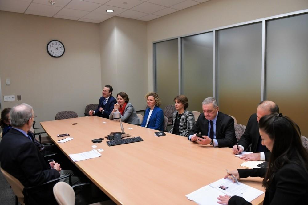 """ქართველი პარლამენტარები, ვაშინგტონში, საერთაშორისო ორგანიზაციის """"ეროვნული წვლილი დემოკრატიისთვის"""" (NED) პრეზიდენტს, კარლ გერშმანს შეხვდნენ"""