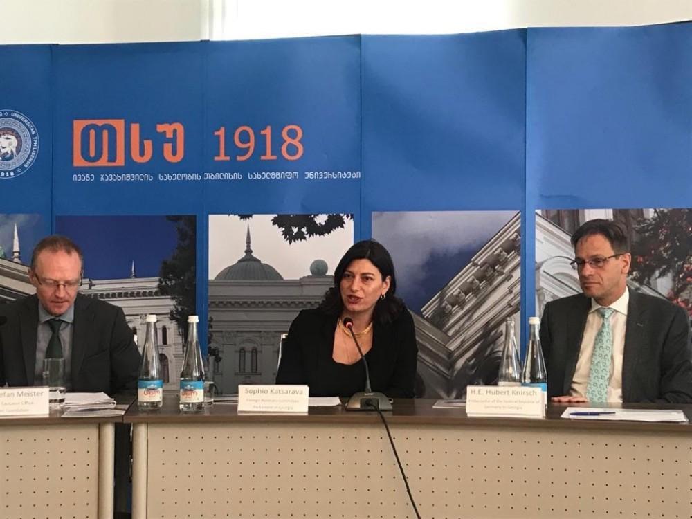 """სოფიო ქაცარავამ მონაწილეობა მიიღო დისკუსიაში """"ქართულ-გერმანული ურთიერთობები ევროატლანტიკური ინტეგრაციის კონტექსტში"""""""