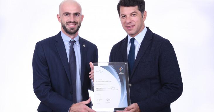 UEFA-მ ფეხბურთის პოპულარიზაციაში შეტანილი წვლილისთვის საქართველოს ვერცხლის ჯილდო გადასცა