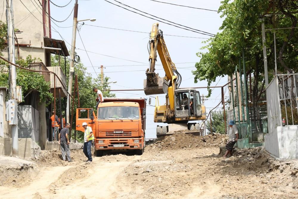 ისნის რაიონში, დურმიშიძის ქუჩაზე გზის რეაბილიტაცია დაიწყო