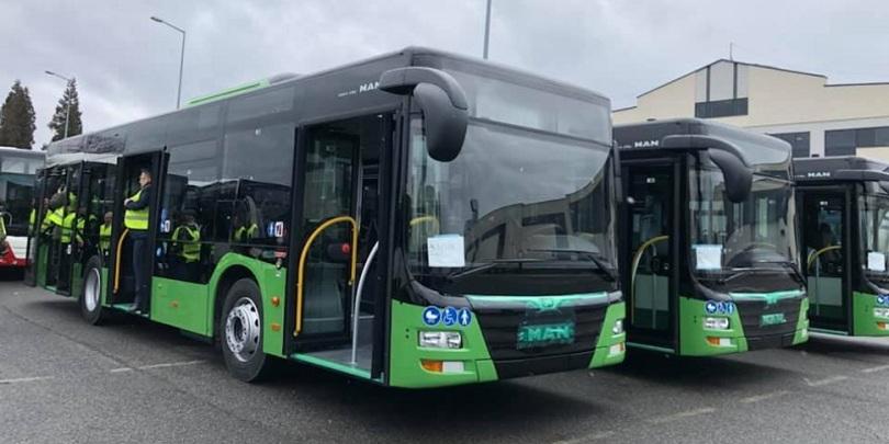 მწვანე ავტობუსები N55 მარშრუტზე გავიდნენ