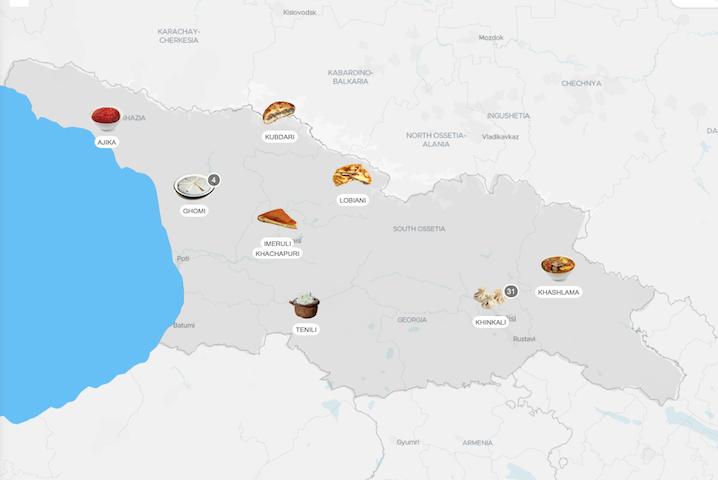 """ქართული კერძები """"გემოს მსოფლიო ატლასზე"""""""