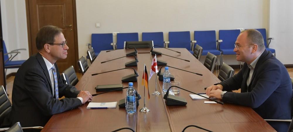 ირაკლი ბერაია გერმანიის ფედერაციული რესპუბლიკის საგანგებო და სრულუფლებიან ელჩს შეხვდა