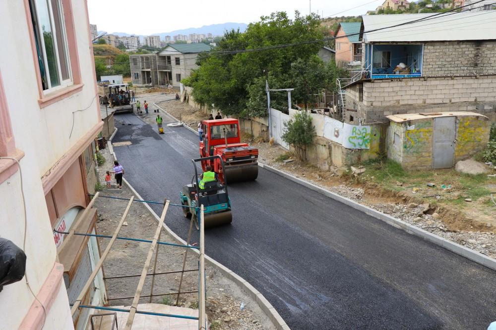 მუხიანი 2-ში, ჟვანიასა და საზანოს ქუჩების მონაკვეთზე საგზაო სამუშაოები მიმდინარეობს