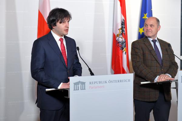 ირაკლი კობახიძე ავსტრიის რესპუბლიკის ეროვნული საბჭოს პირველ პრეზიდენტს შეხვდა