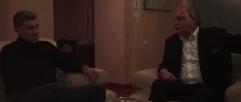 გრიგოლ ვაშაძე ირაკლი ოქრუაშვილს სახლში ესტუმრა (ვიდეო)