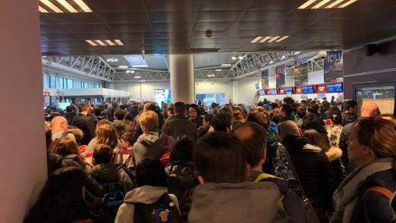 რომის აეროპორტში ხანძრის გამო, მგზავრების ევაკუაცია განხორციელდა