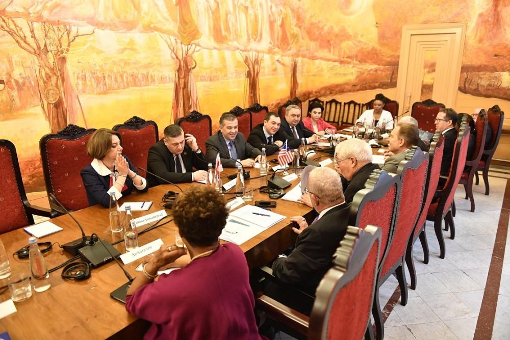 საპარლამენტო ოპოზიციის წარმომადგენლების შეხვედრა აშშ-ის კონგრესის დელეგაციის წევრებთან
