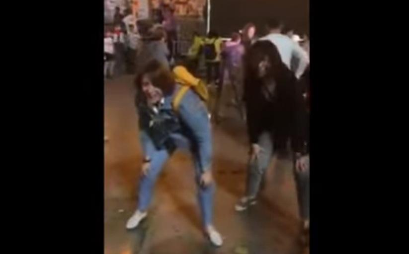 ელენე ხოშტარიამ აქციაზე იცეკვა (ვიდეო)