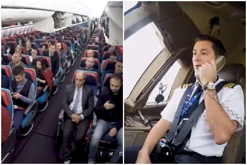 ემოციური კადრები თვითმფრინავიდან  (ვიდეო)