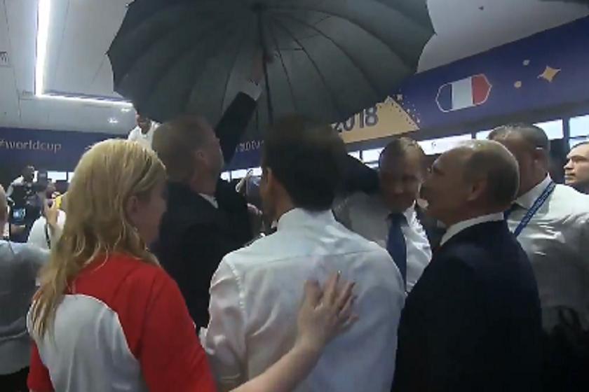 """პუტინის დაცვა კვლავ ფორმაშია - რუსეთის პრეზიდენტი დაცვის წევრმა შამპანურის შხეფებისგან """"დაიცვა"""" (ვიდეო)"""