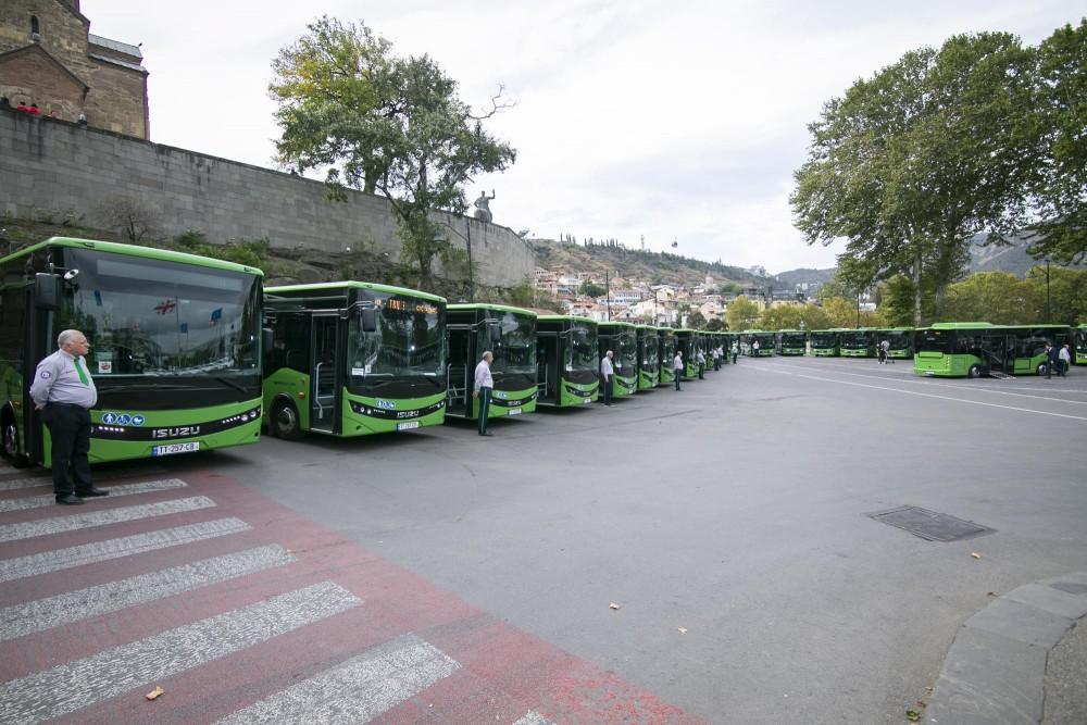 ISUZU-ს მარკის 8-მეტრიანი ავტობუსები ახალ მარშრუტებზე გავიდა